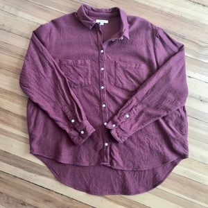 Madewell flannel button down. Size (XXL).